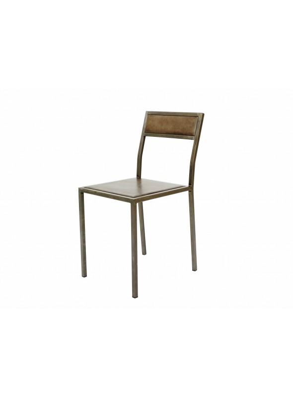 set di 4 sedie artigianali in ferro con seduta e schienale