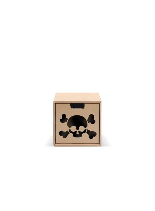 Originale contenitore di ecodesign in cartone - Pixel Skull