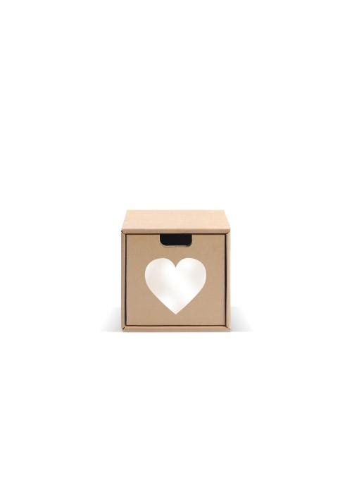 Originale contenitore di ecodesign in cartone - Pixel Cuore