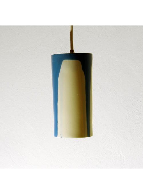 Lampada a sospensione in ceramica blu di design - Luciombre