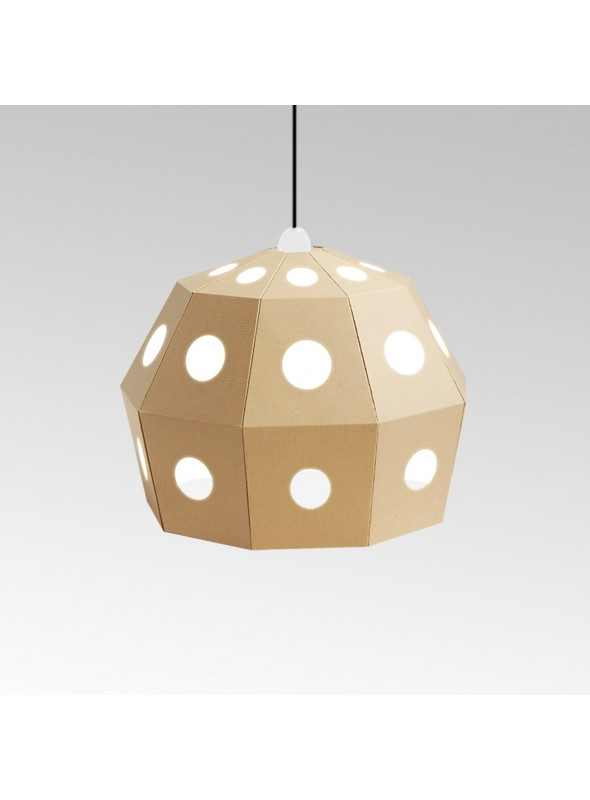 Ecofriendly cardboard ceiling lamp -Uno Fantasia B
