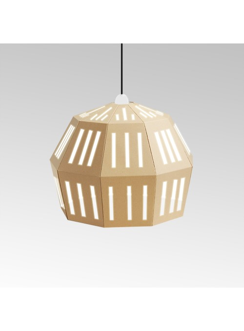Lampada in cartone di ecodesign - Uno Fantasia C
