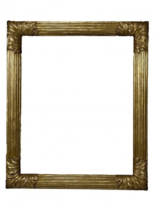 Cornice in legno Scanalata Oro