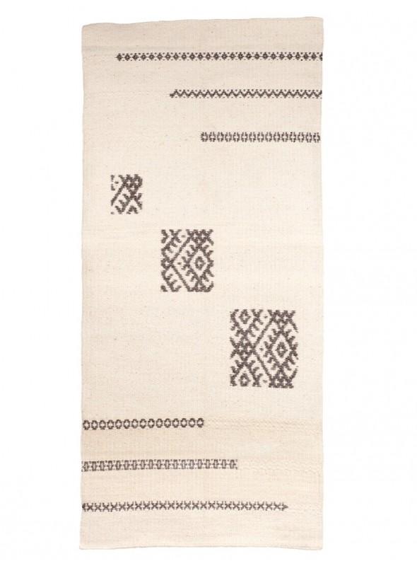Tappeto a stuoia in lana sarda - Il Volo