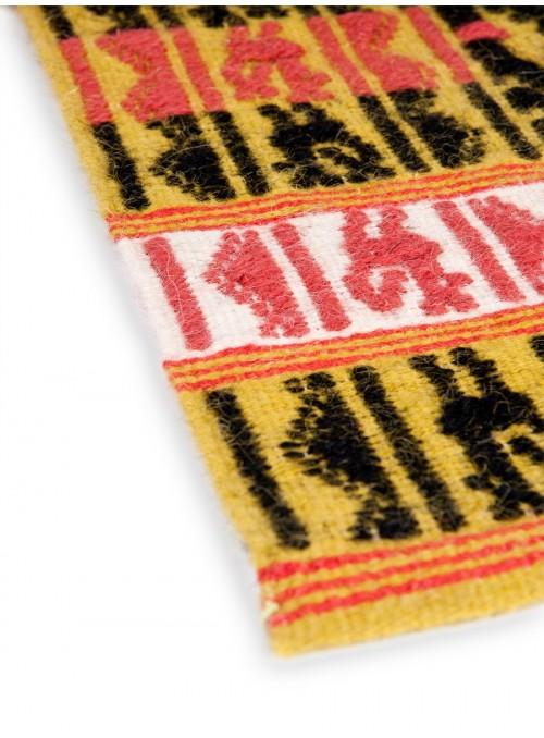 Tappeto in lana sarda lavorato a mano - Galline e Ballo Sardo