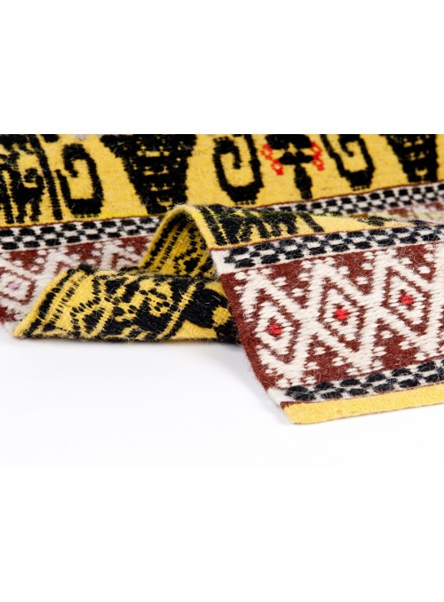 Tappeto in lana sarda lavorato a mano - Pavoncelle