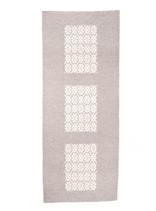 Tappeto a stuoia in lana sarda lavorato a mano - Quadro