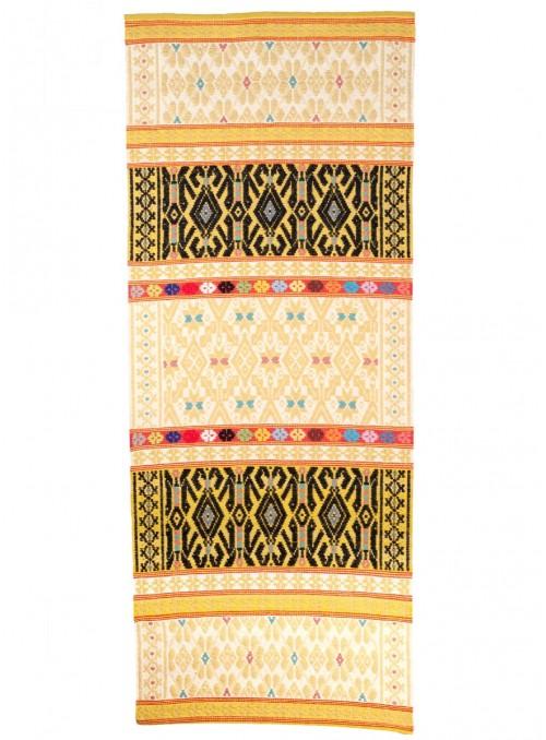 Tappeto in lana sarda lavorato a mano - Sa Rosellina e S'istella Bicuda