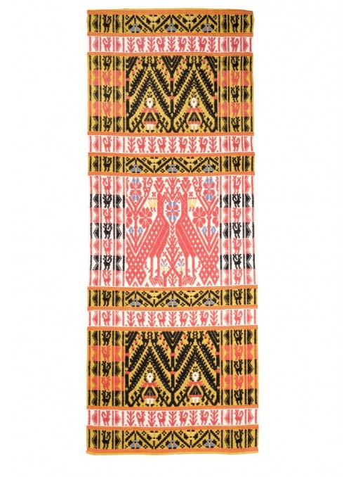 Handmade carpet in sardinian wool - Galline e Ballo Sardo