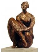 Scultura in bronzo raffigurante la Donna Seduta