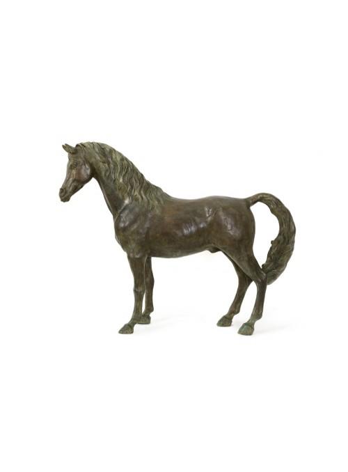 Scultura in bronzo di un Cavallo Arabo