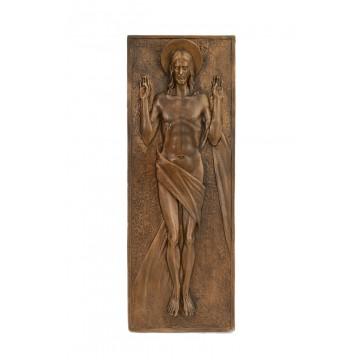 Bassorilievo in bronzo a tema religioso - Resurrezione di Gesù