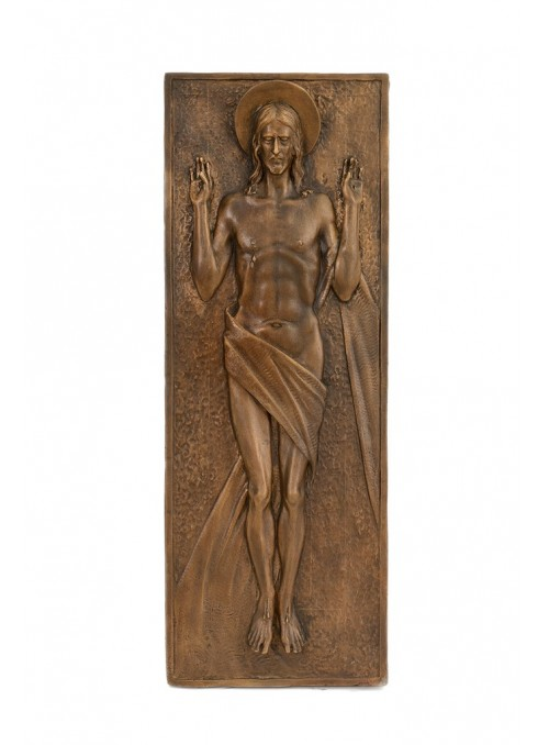 Religious bronze bas-relief - Resurrection of Jesus