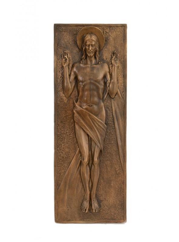 Religious bronze bas-relief - Resurrection of Jesus