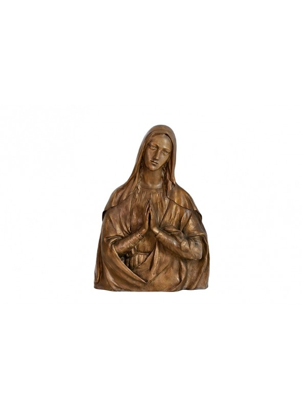 Religious bronze high-relief - Madonna bust