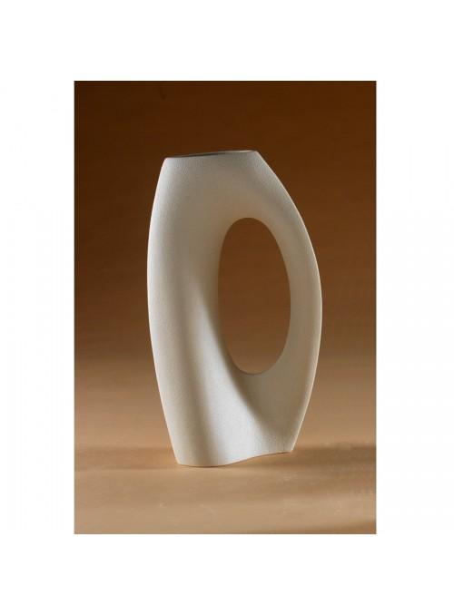 Design vase in porcelain stoneware - Abbraccio