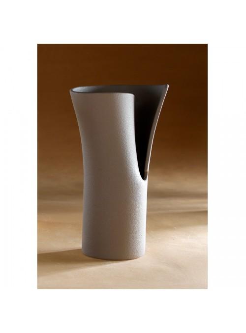 Design vase in porcelain stoneware - Elica beta