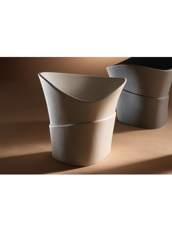 Vaso di design in gres porcellanato - Swing beta