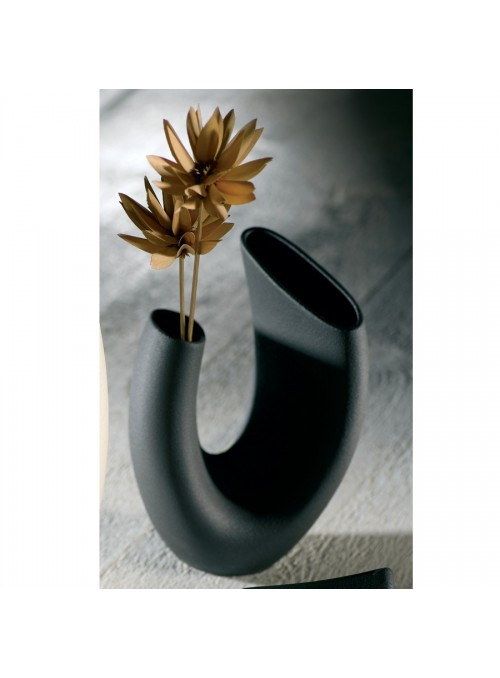 Design vase in porcelain stoneware - Anemone beta