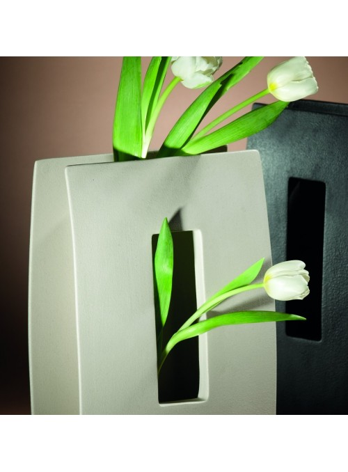 Design vase in porcelain stoneware - Window alpha