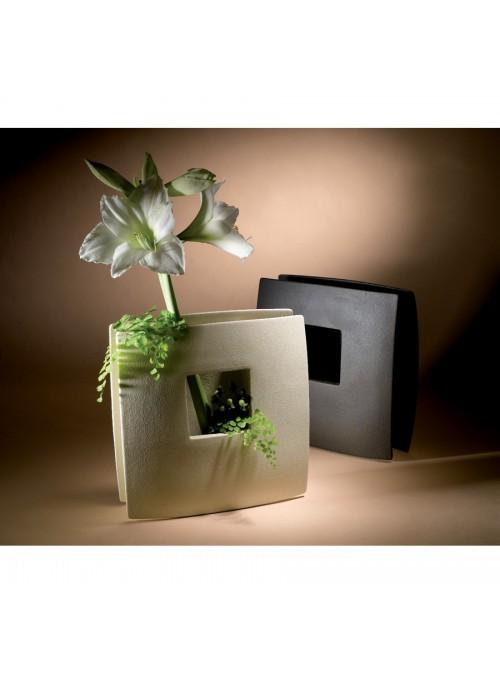 Design vase in porcelain stoneware - Window beta