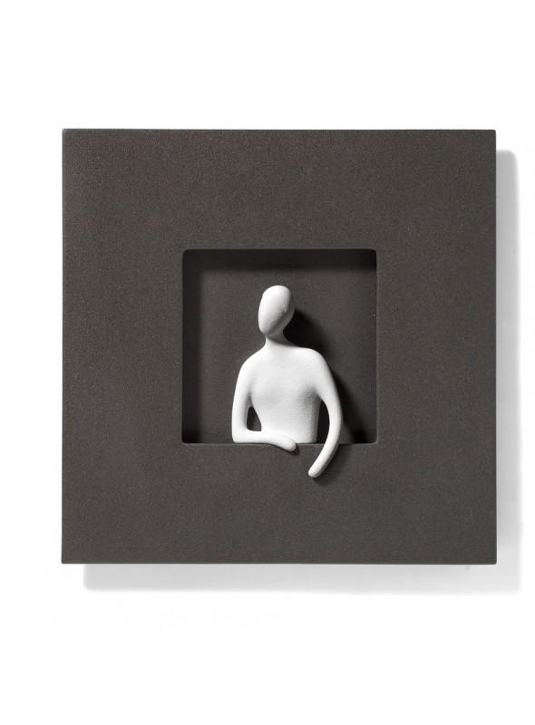 Quadretto ornamentale romantico in gras porcellanato - Giulietta
