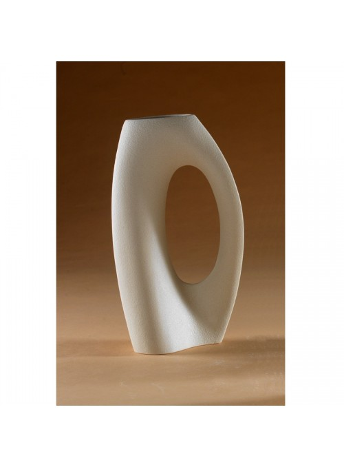 Sinuous vase in porcelain stoneware - Abbraccio alpha
