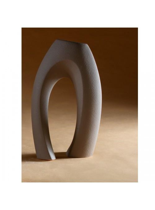 Sinuous vase in porcelain stoneware - Abbraccio beta