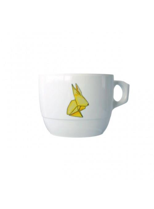 Tazza per bambini in melamina - Conigli Origami