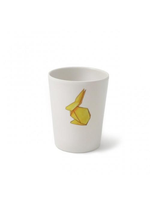Bicchiere per bambini in melamina - Conigli Origami