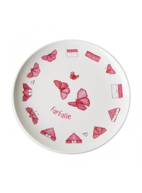 Piatto piano per bambini in melamina - Farfalle Origami