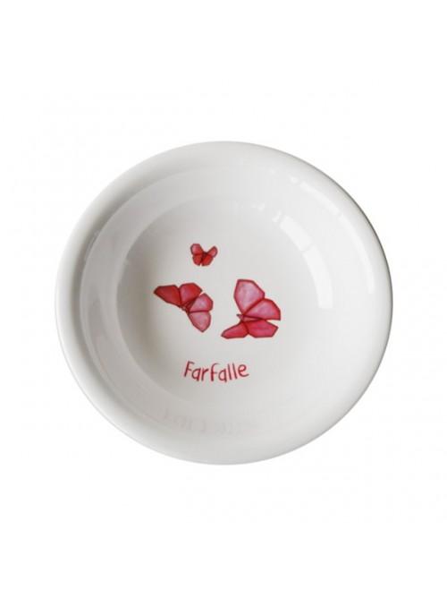 Piatto fondo per bambini in melamina - Farfalle Origami