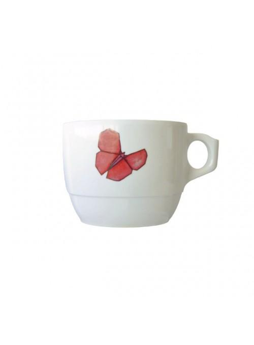 Tazza per bambini in melamina - Farfalle Origami