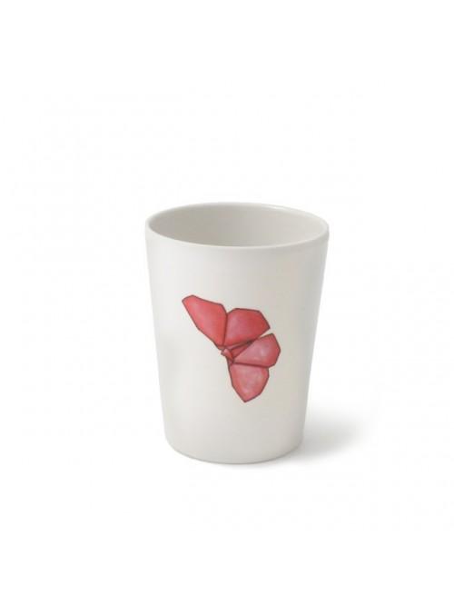 Bicchiere per bambini in melamina - Farfalle Origami