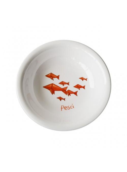 Piatto fondo per bambini in melamina - Pesci Origami