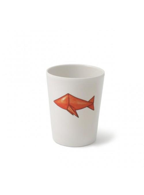 Bicchiere per bambini in melamina - Pesci Origami