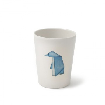 Bicchiere per bambini in melamina - Pinguini Origami