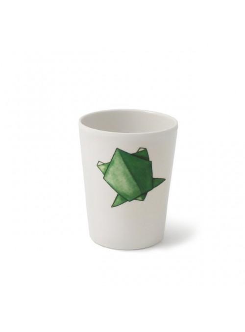 Bicchiere per bambini in melamina - Tartarughe Origami