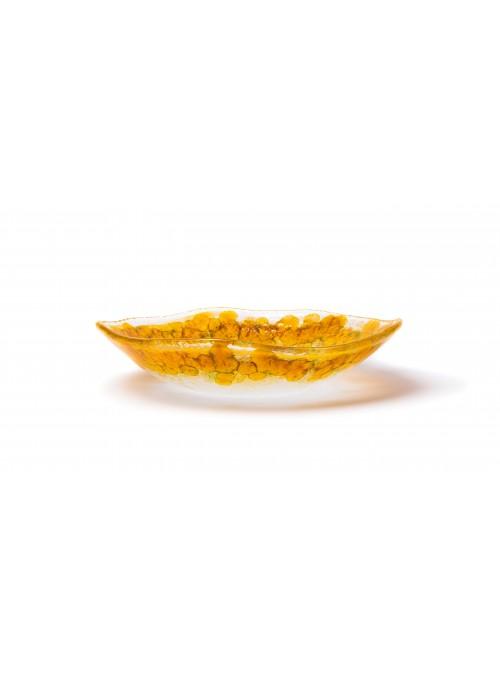 SAKAI piatto fondo in vetro dorato