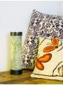 Lapiccola - lampada da tavolo in vetroresina con decori colorati