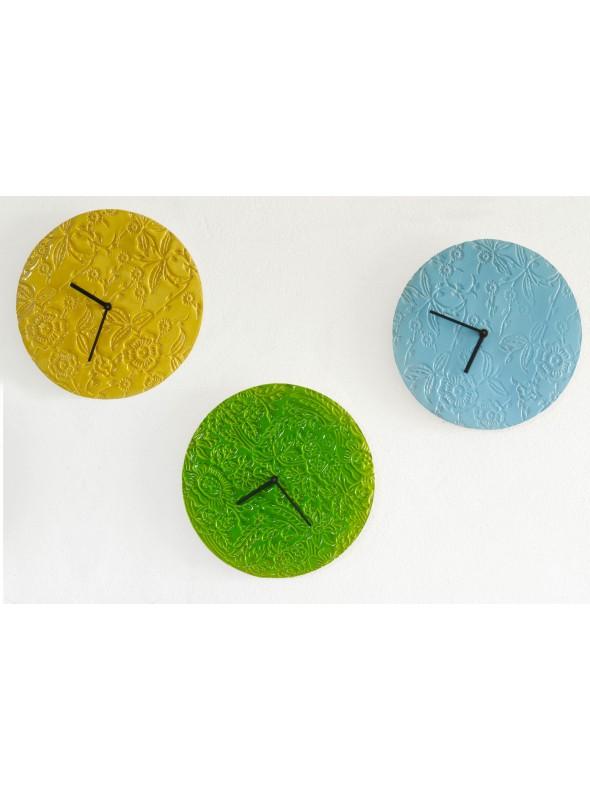 Orologio da muro in ceramica colorata - Texture
