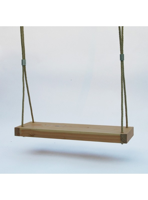 Wooden swing for a garden