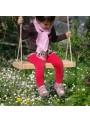 Wooden swing for a garden