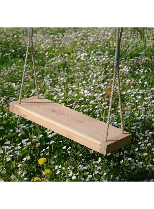 Wooden swing for the garden