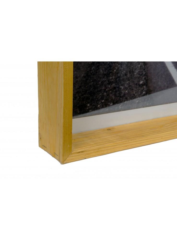 cornice profonda in legno di riciclo per fotografie