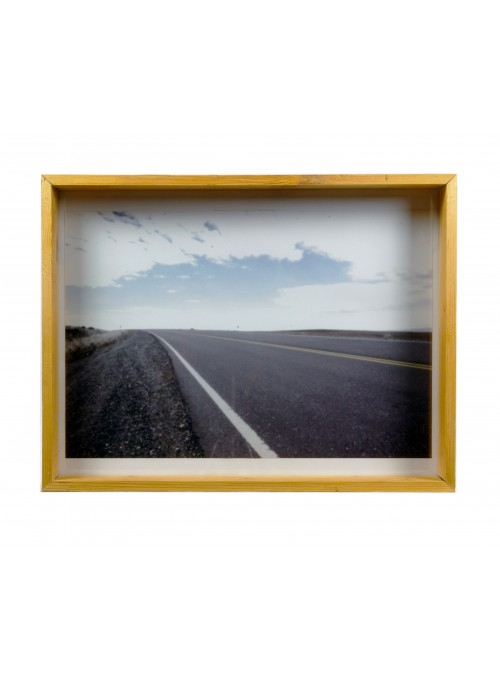 Deep frame in recycled wood for photographs - Cassetta