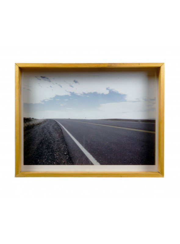 Deep frame in recycled wood for photographs