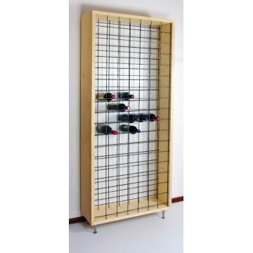 Mobile portavini in legno che può contenere più di 100 bottiglie - Cantinetta
