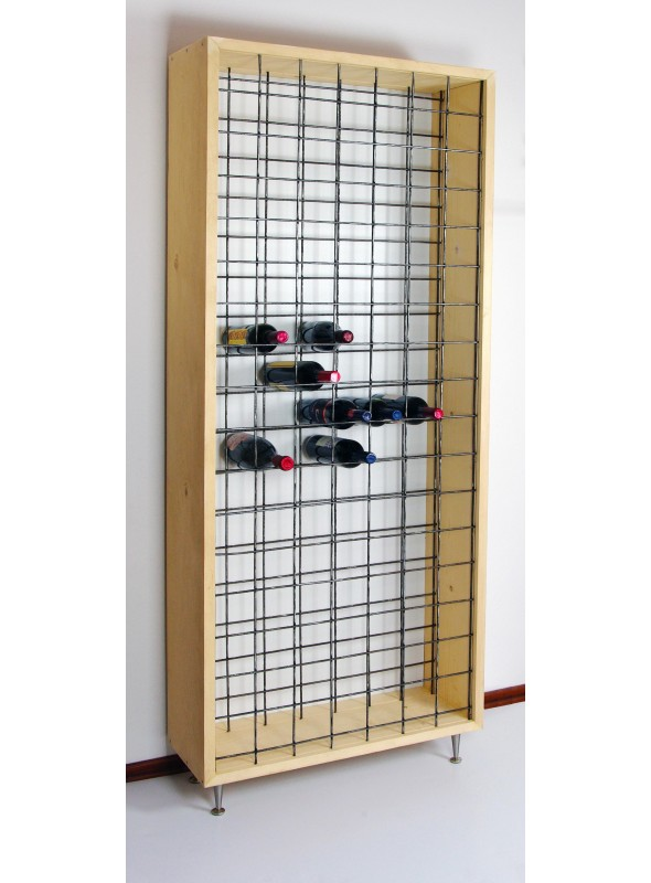 Wooden wine rack that can contain more than 100 bottles