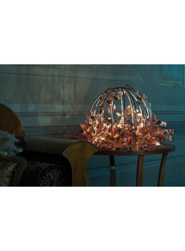 Lampada da tavolo di design in ferro e rame - Orbis